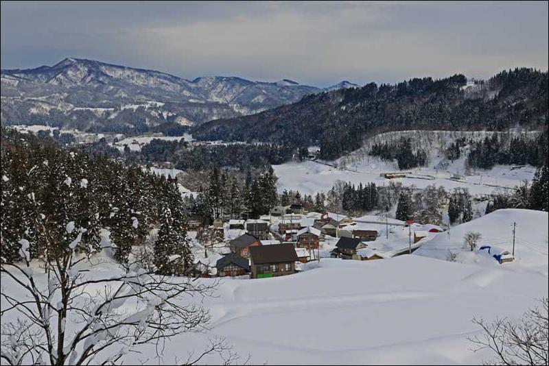 雪の止み間(切欠集落) - 長野県 栄村